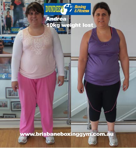 gym weight loss success story - andrea 1