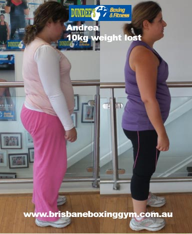gym weight loss success story andrea 2
