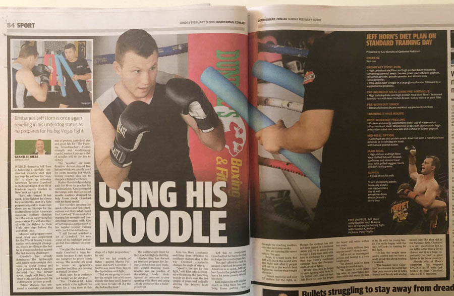 jeff horn on Sunday Courier Mail