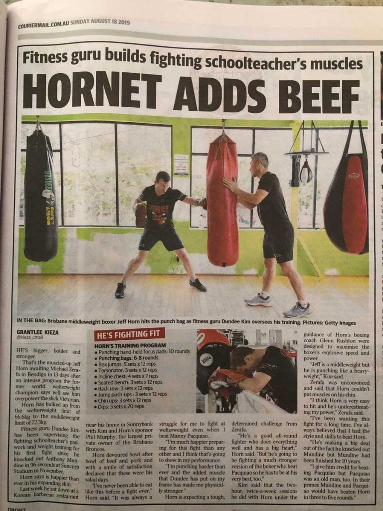 Jeff Horn Michael Zerafa Dundee Boxing Training