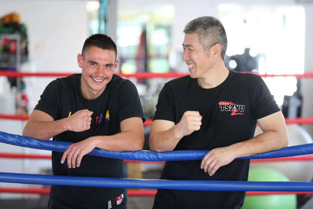 dundee kim after training session with tim tszyu