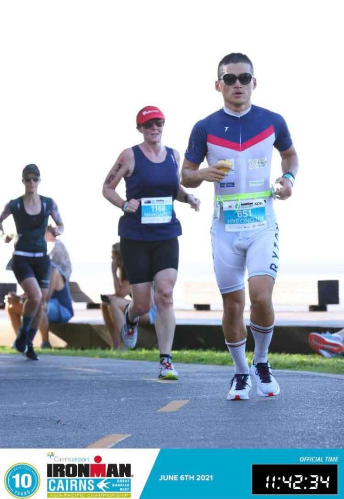 jin competing in ironman cairns